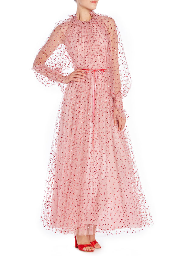 Long Sleeve Glitter Gown