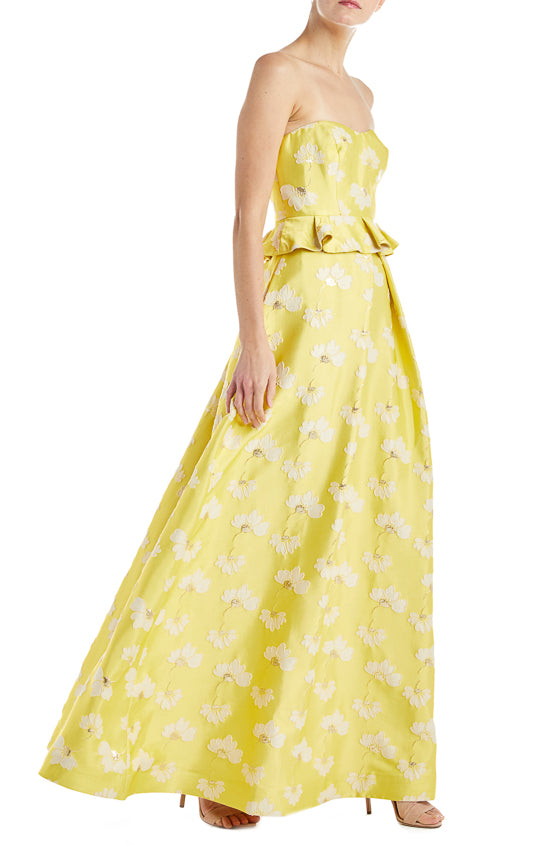 Buttercup Floral Printed Spring 2019 Gowns