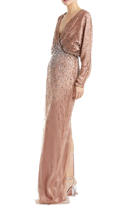 Monique Lhuillier Beaded Gown