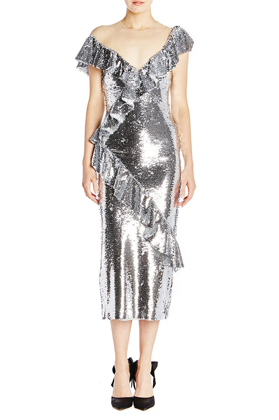Sequin Midi Dress - moniquelhuillier