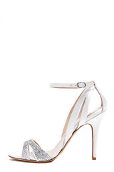 Crystal Studded Monique Lhuillier Sandal
