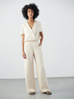 Wide Leg Hex Jumpsuit - Griege