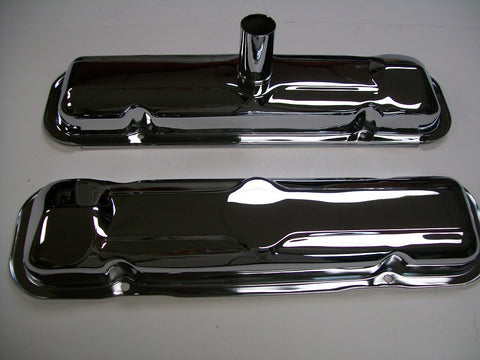 Chrome Valve Covers-- Early 1964