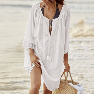 Casual Pure Color Loose Beachwear