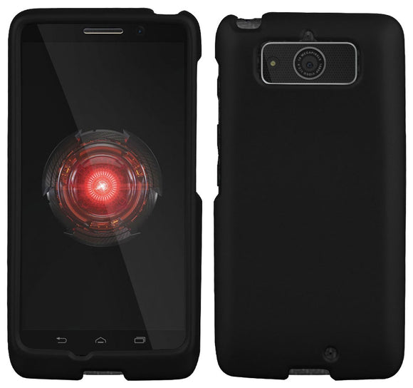 BLACK RUBBERIZED HARD SHELL CASE PROTEX COVER FOR MOTOROLA DROID MINI XT1030