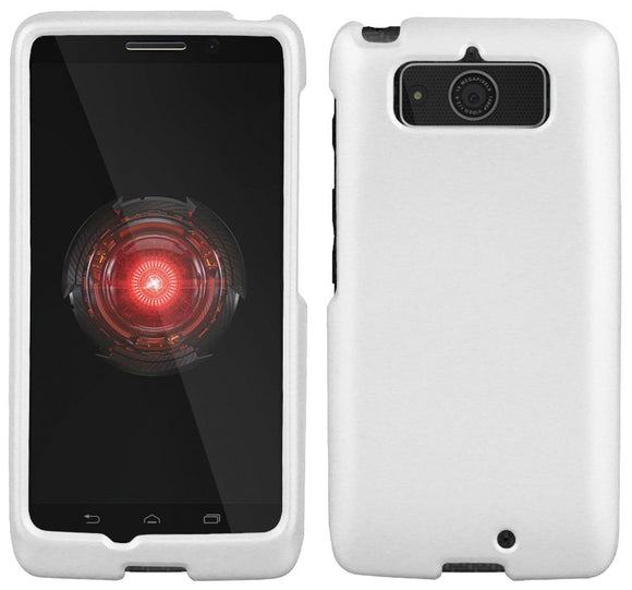 WHITE RUBBERIZED HARD SHELL CASE PROTEX COVER FOR MOTOROLA DROID MINI XT1030