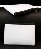 White Zippered Neoprene Pouch - Lucky Dog Custom Creations