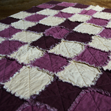 Quilt - Purple & Cream Diamond