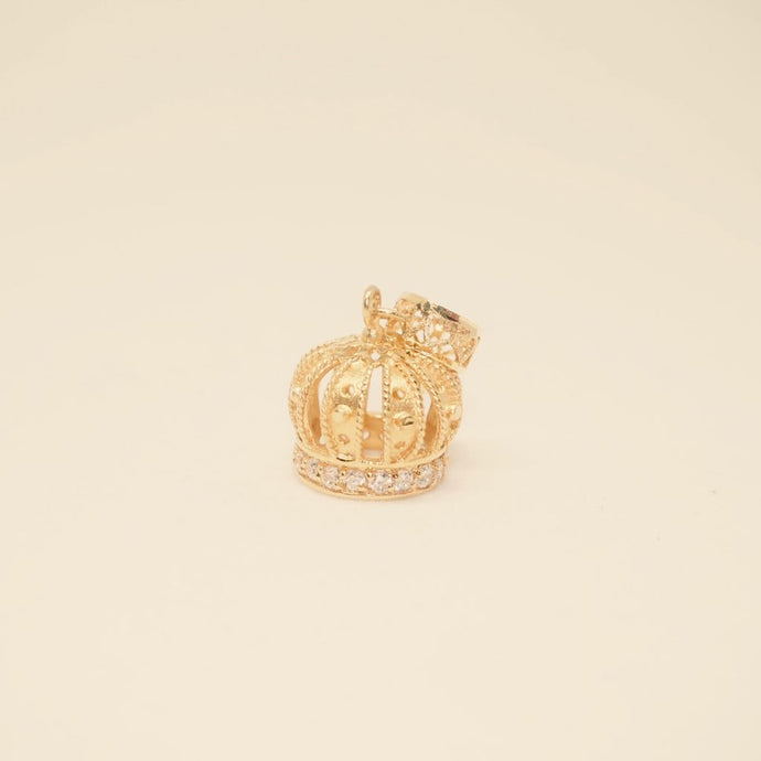 Gold Dangling Crown Charm