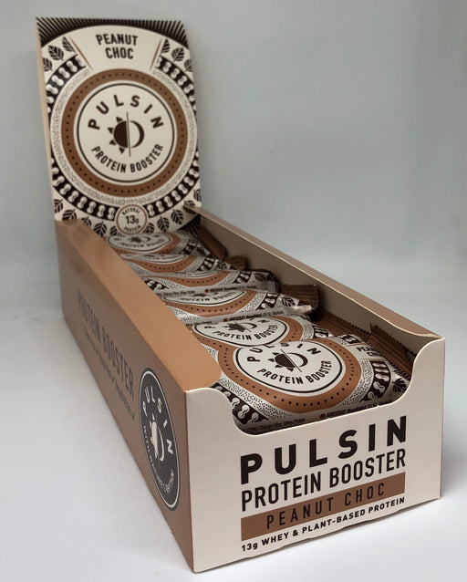 Pulsin Peanut Choc Protein Booster bar 50g - Case of 18 bars Multisave