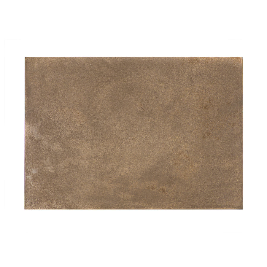 POSH TRADING COMPNY SERVING MAT / GRAND PLACEMAT VINTAGE BRASS