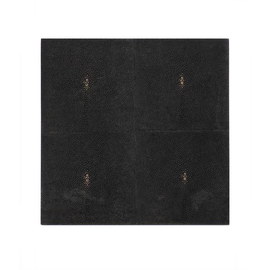 POSH TRADING COMPANY PLACEMAT FAUX SHAGREEN CHOCOLATE