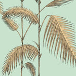 Cole & Son Palm Leaves Mint/Yellow Wallpaper