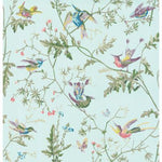 Cole & Son Hummingbirds Blue Multi-Colour Wallpaper