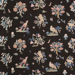 Schumacher Magical Menagerie Black Fabric