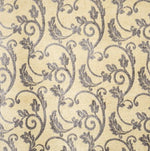 Fabricut Seghesio Pewter Gold Fabric