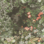 Cole & Son Woodland Coral/Olive/Char Wallpaper