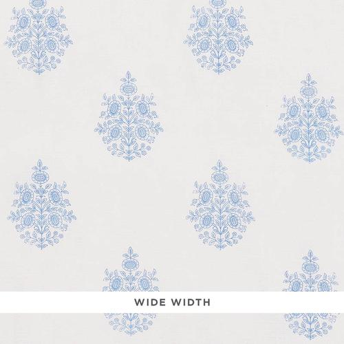 Schumacher Asara Flower Sheer Blue Fabric - Fabric