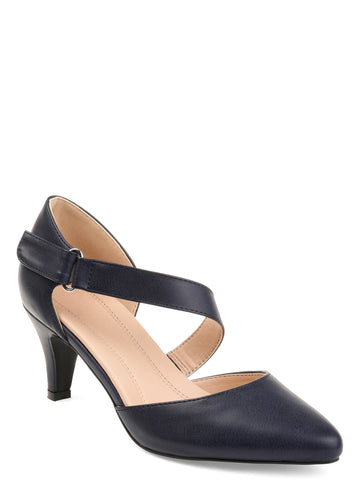 Brinley Co. Womens Comfort-sole D'orsay Cross-strap Pumps - unitedstatesgoods