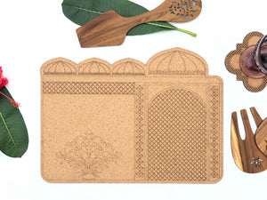 Darbaar Placemats: Chaubara (set of 2)