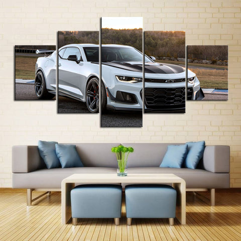 5 Piece Canvas Art White ZL1 1LE