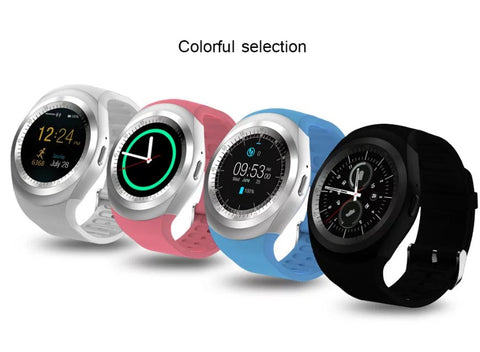 Bluetooth Y1 Round Smart Watch for iPhone and Android Phone