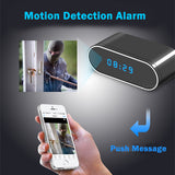 OVAL ALARM CLOCK WITH 1080P HD HIDDEN CAMERA