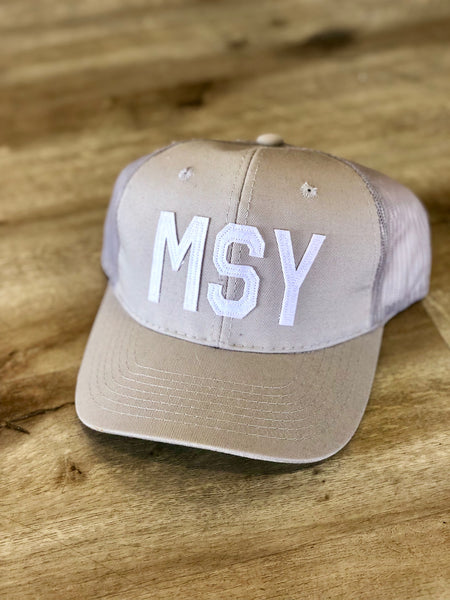 MSY Hat Light Grey Trucker