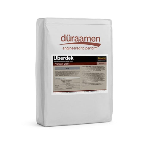 Uberdek is exterior grade concrete resurfacing product. It is used to renew existing concrete driveways, patios and pooldecks.