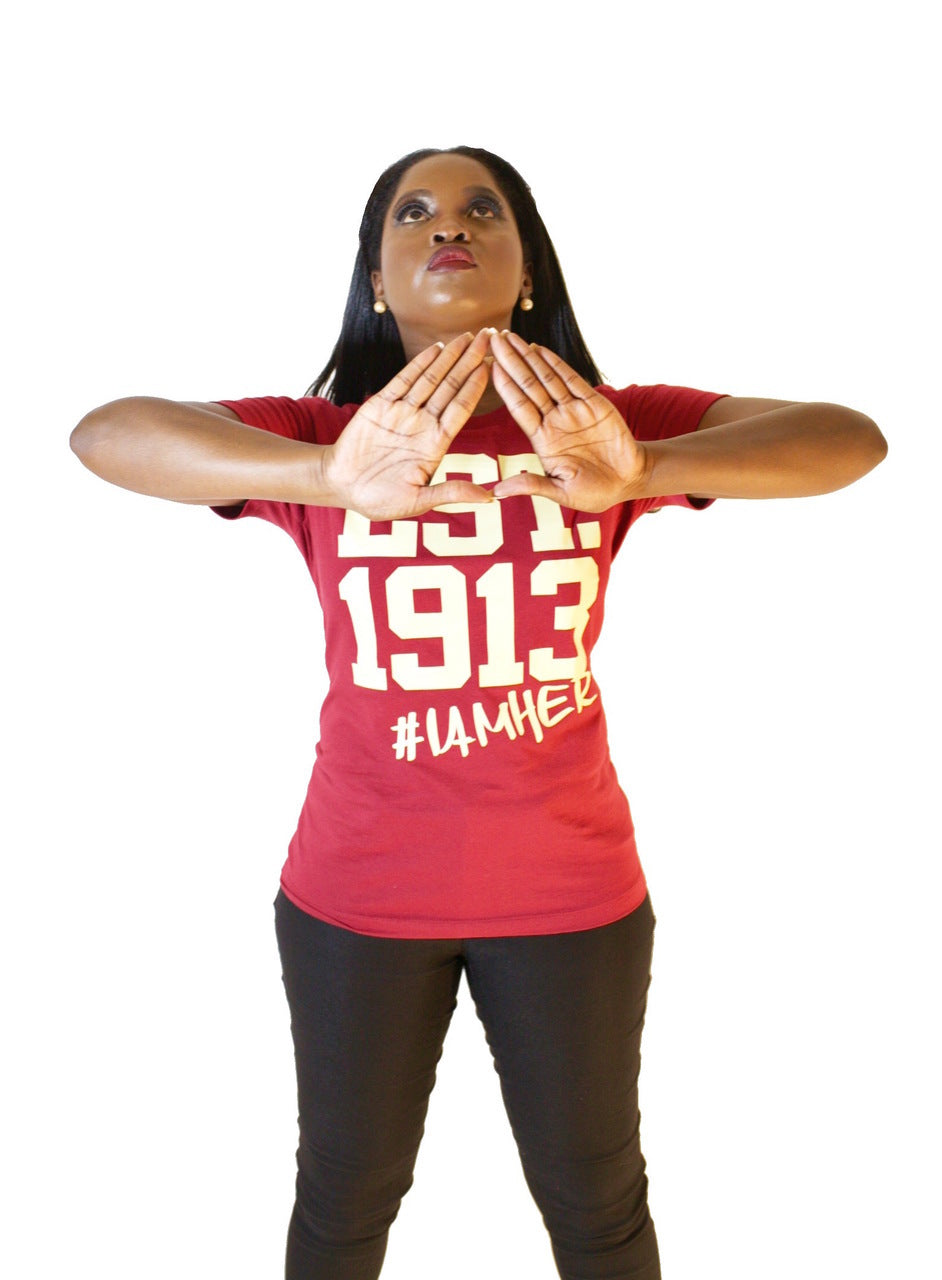 Delta Sigma Theta Inspired - EST. 1913 - Tees for Women - I AM HER Apparel, LLC