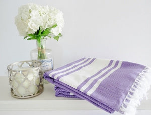 Cotton Beach Towel (Purple), Towels - The Happy Beach