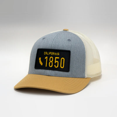 California Vintage License Plate Curved Brim Snapback Cap