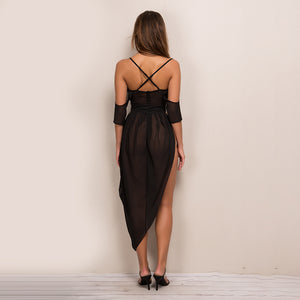 Off The Shoulder Backless Dress