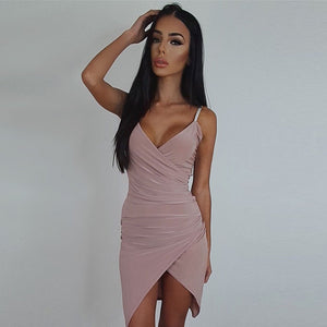 Deep V Neck Sleeveless Dress