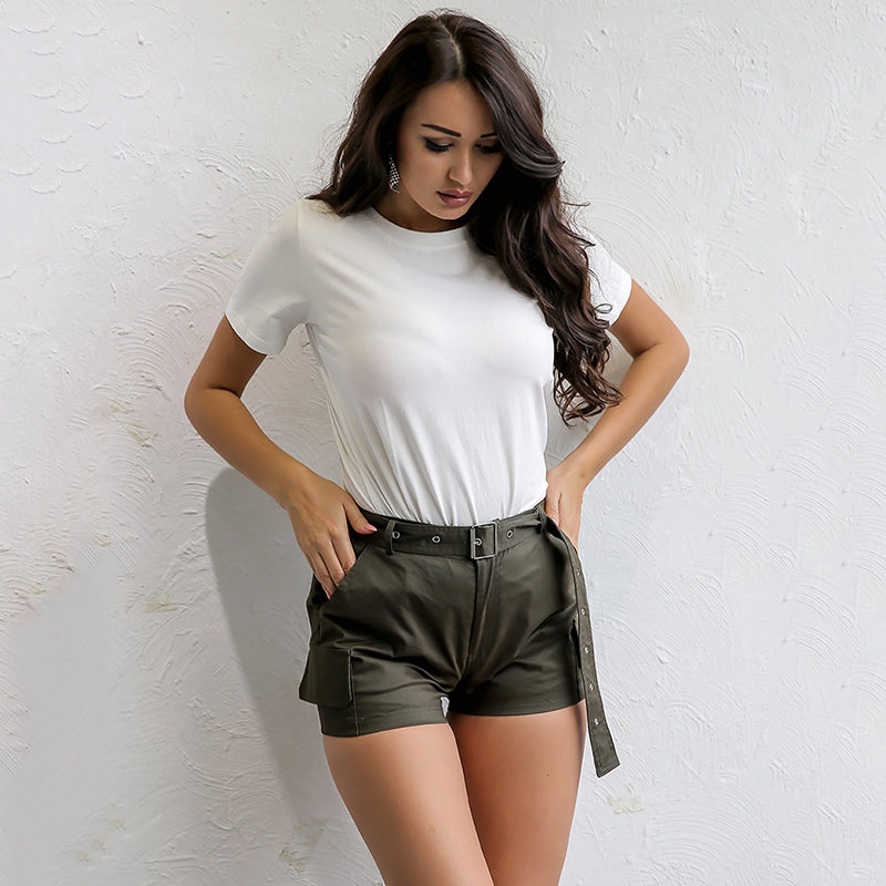 Long Drawstring Casual Pocket Denim Shorts