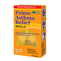 Prime Asthma Relief Refills – Safe And Fast-Acting OTC Inhalation of Epinephrine