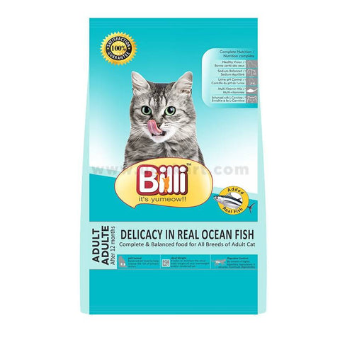 Cat Food Billi-Adult Delicacy In Real Ocean Fish
