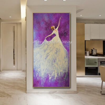 Oil Painting Ballet Dancer Picture