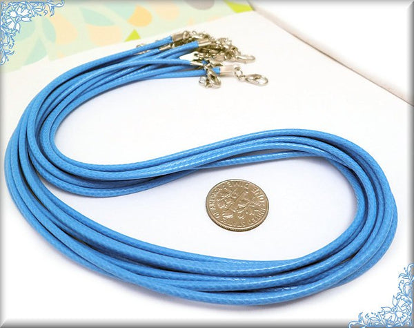 10 Ocean Blue Cord Necklaces