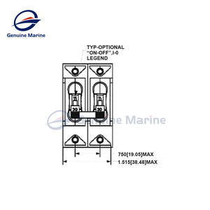5Amp Circuit Breaker Magnetic Switch Double Pole Manufactured - GenuineMarine