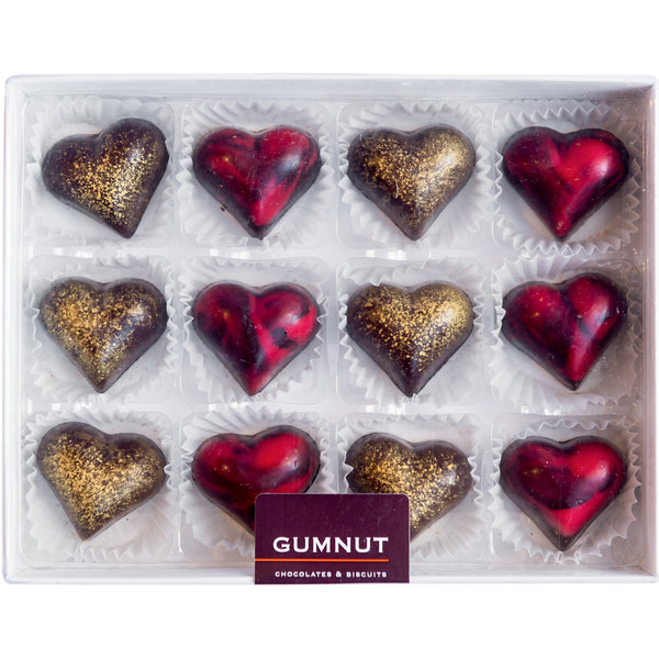 Red & Gold Hearts Chocolates