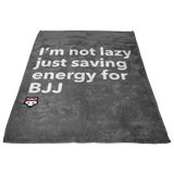 BJJ WOLF Fleece BLANKET Grey