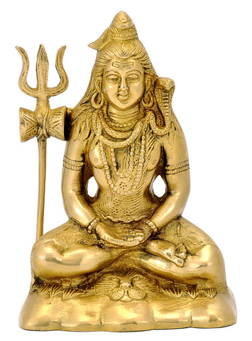 Mediating Lord Shiva Figurine