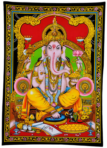 Lord Ganesh Ji - Fabric Sequin Painting