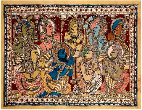 """King Dasharath"" Father of Lord Rama - Kalamkari Painting"