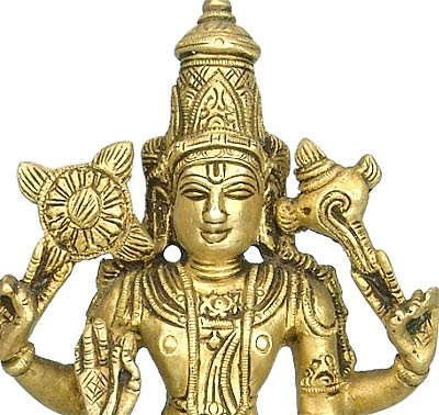 Lord Narain Preserver of Live - Brass Statue