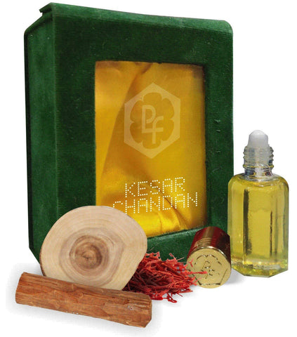 Real and Natural Kesar Chandan Attars Gift Pack (12 ml)
