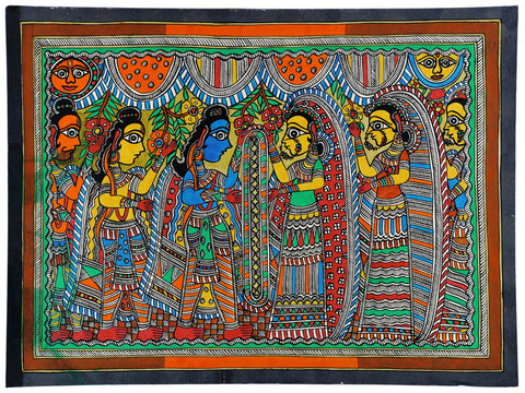 Rama and Janaki Vivaha - Madhubani Painting