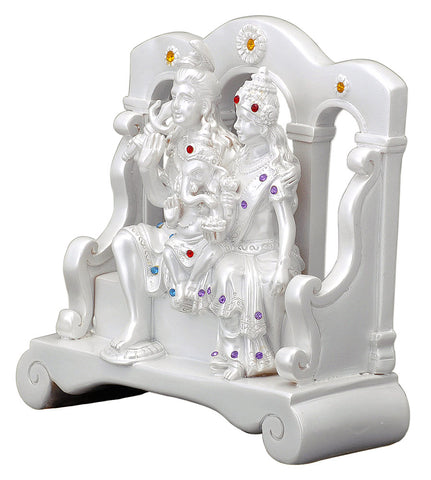 Polyresin Shiva Parivar Decorative Figure