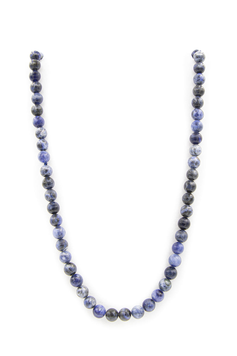 "<img src=""IMG_9954.JPG"" alt=""Sodalite Natural Stone Necklace 10mm 30'' Gloss Finish"">"